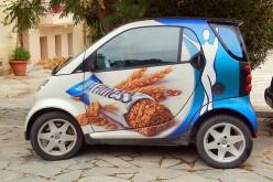 Reklama ant mašinos