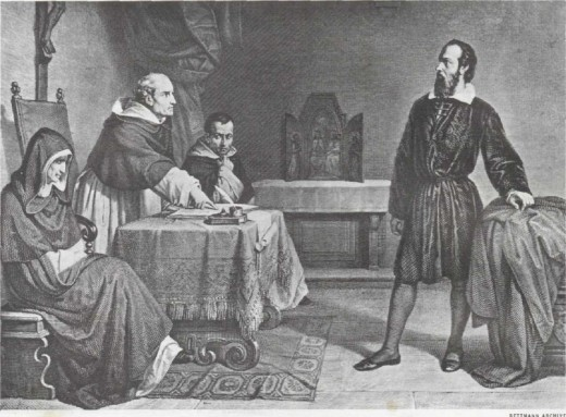 Galileo defending himself before the Inquisition in Rome in 1633
