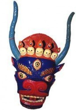 HIMALAYAN BUDDHIST DEMON MASK