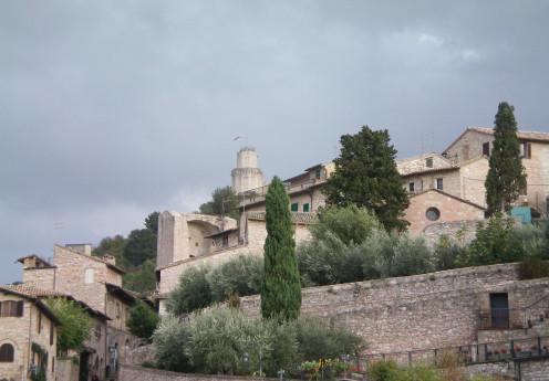 Assisi, one of Umbria's walled towns (c) A Harrison