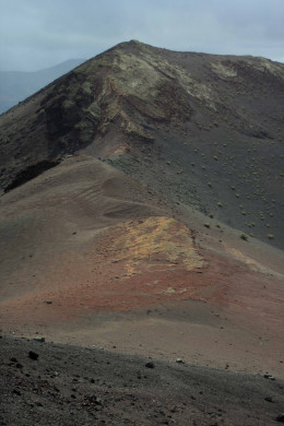 Volcanic cones in the Timanfaya National Park on the Island of Lanzarote