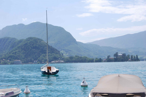 Life can be beautiful:) This is The Annecy lake i France. One of the most beautiful places I have ever seen. Source my own photos.
