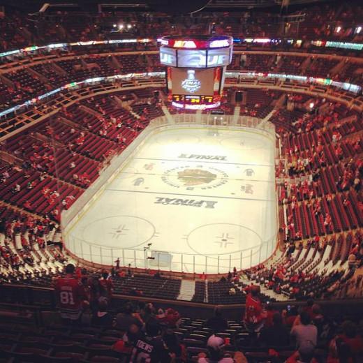 The United Center, Chicago Blackhawks Home Arena.