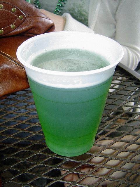 Green Beer is a St. Patrick's Day tradition.