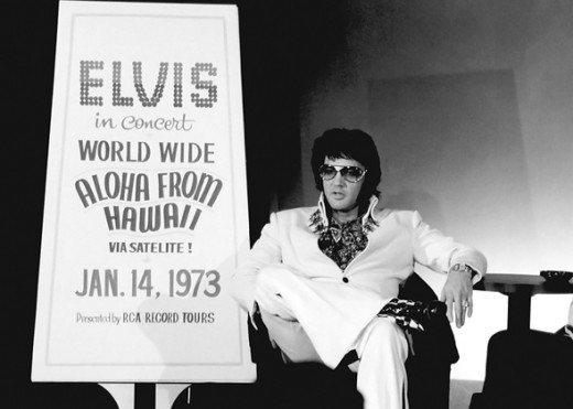 Elvis Presley is interviewed in September 1972 during pre-promotion for his televised concert Elvis: Aloha From Hawaii.