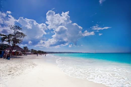 Negril's famous  7 Mile Beach