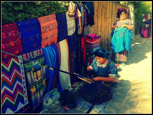 Mayan weaver in Santa Catarina, Lake Atitlan