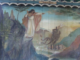 Jesus casting down Satan