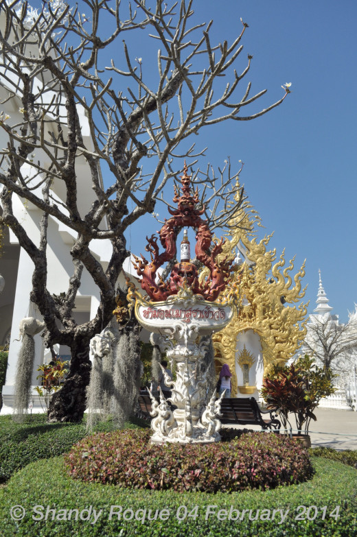 Say no to alcohol? Location: Wat Rong Khun (The White Temple)