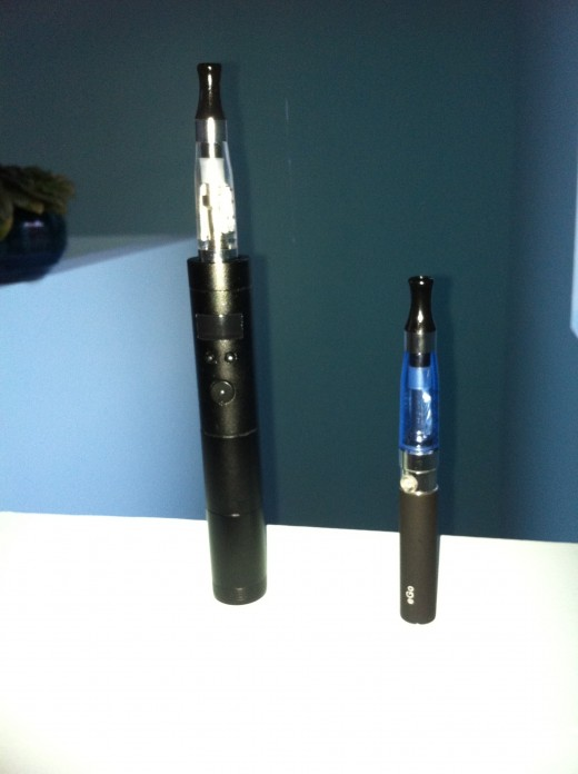 I used to suffer from e-cig envy.  Now I'm vapin' with the big dawgs!  Vamo is on the left.