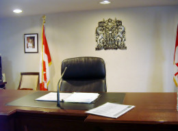 The Judge's seat,