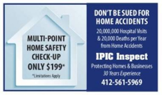 If you need an inspection in the Pittsburgh, Pa Area call Ipic Safety Inspections at 412-561-5969.