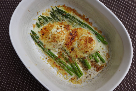 Asparagus & Eggs when I first started putting this recipe together I was not sure I would work but to my surprise it was awesome you just have to try it.
