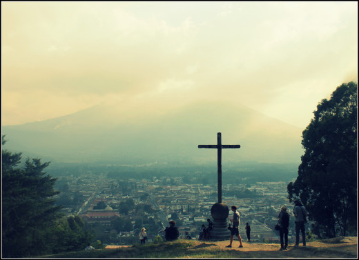The cross on the hill. Antigua