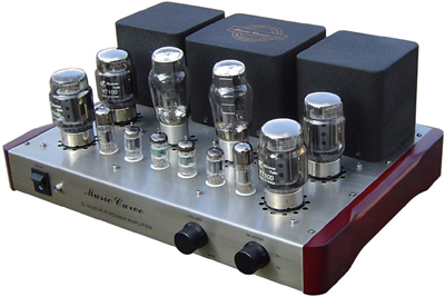 curved vacuum tube amplifier