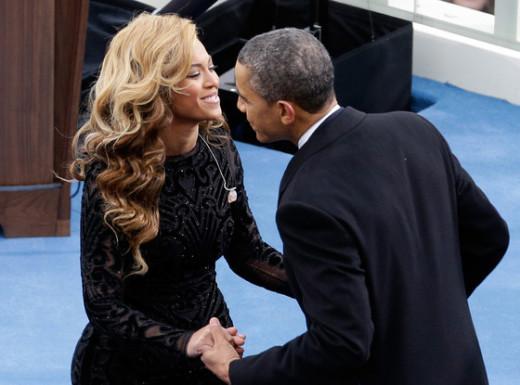 Beyonce and President Obama