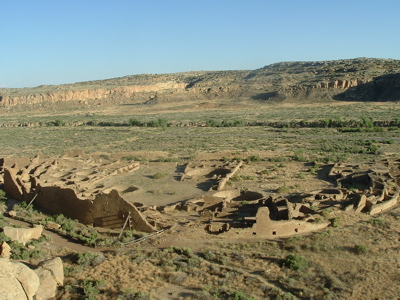 Ancient Pueblo People's ruins at Chaco Canyon, New Mexico