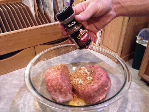 Step Six: Add in your hamburger seasoning