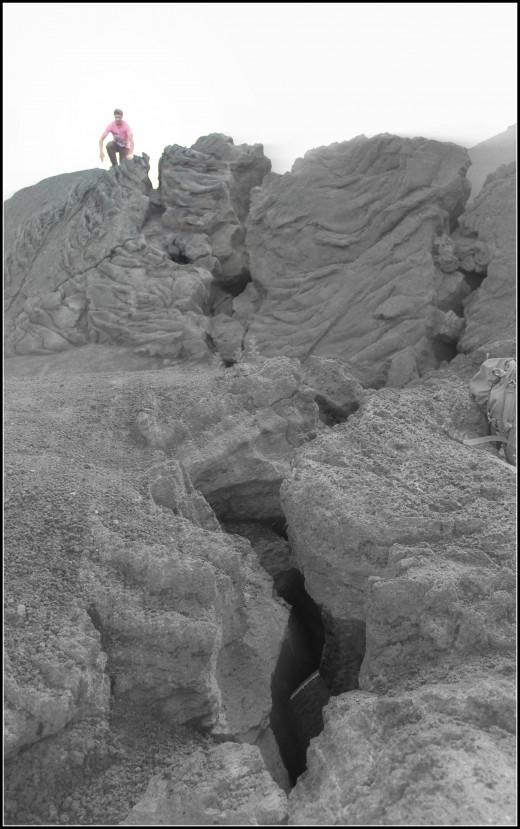Lava crack