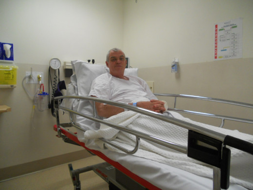 Patient in Bed with Side rails Up to prevent Falls