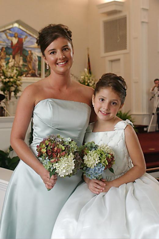 """A cute little """"junior bridesmaid"""""""