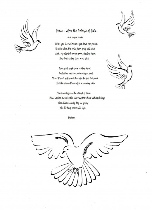 I hope my poem brings Peace to your grieving heart