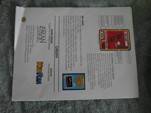 Directions page four.