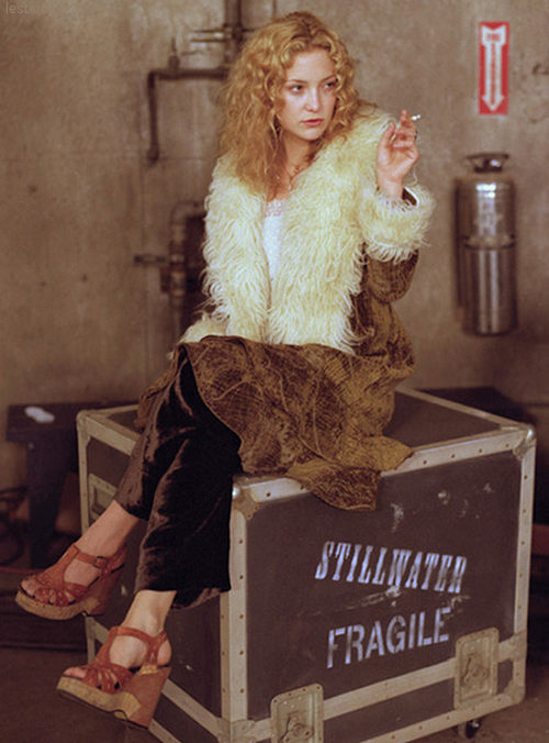 "Kate Hudson as Penny Lane in ""Almost Famous"", has a great style and even greater coat!  Vintage cuts and styles can work great for the Free Spirit."