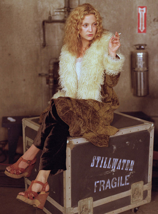 """Kate Hudson as Penny Lane in """"Almost Famous"""", has a great style and even greater coat!  Vintage cuts and styles can work great for the Free Spirit."""
