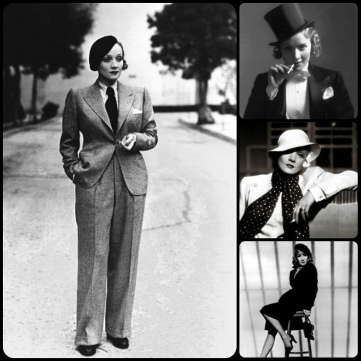 Marlene Dietrich was one of our rare women who could easily rock a hat and tie.  Not all of us are so lucky!