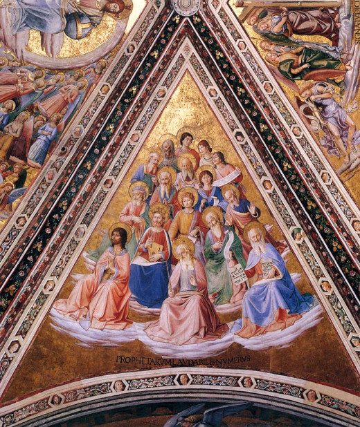 Prophets,  Artist: Fra Angelico. Completion Date: 1447. Chapel of San Brizio, Duomo, Orvieto. Style: Early Renaissance. Technique: fresco. Material: wall