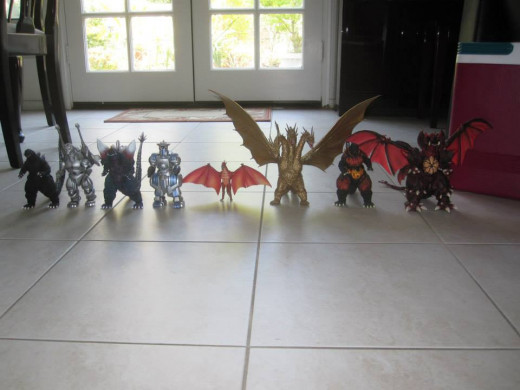 This is the author's personal collection of the SH MonsterArts figures. All of the figures in this photograph are from the regular line.