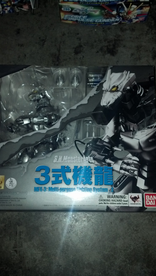 The box package for SH MonsterArts Kiryu.
