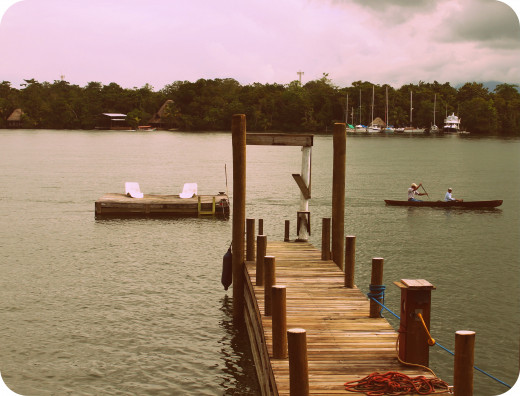 The jetty and swim pontoon at El Tortugal.