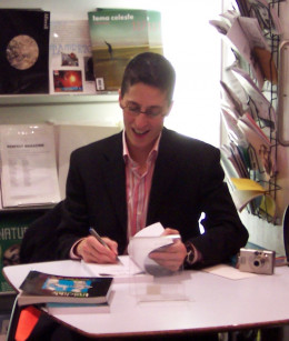 """Cartoonist and writer Alison Bechdel at a book signing at the ICA Shop in London, 2006."""