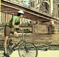 Riding a Bicycle in Urban Areas