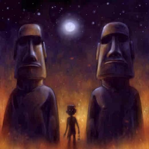 Easter Island artwork
