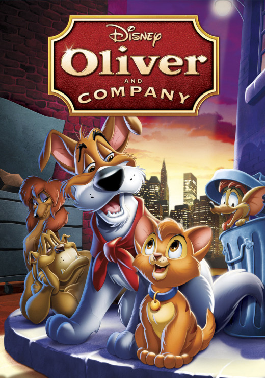 Cover for the re-release of Oliver & Company on DVD.