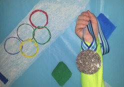 Olympic theme party wins over kids
