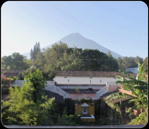 Looking at Volcan Agua from the room.