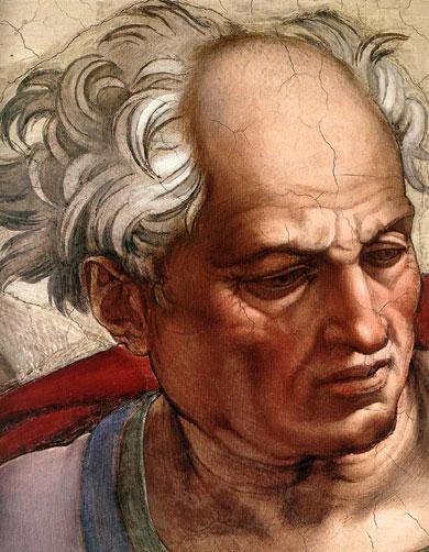 Prophet Joel (Michelangelo AD 1509)