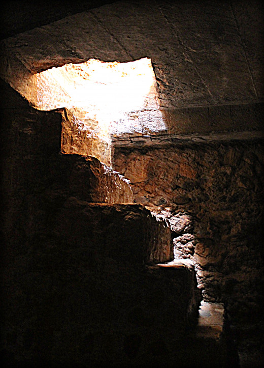 Dungeon stairs of the fort.