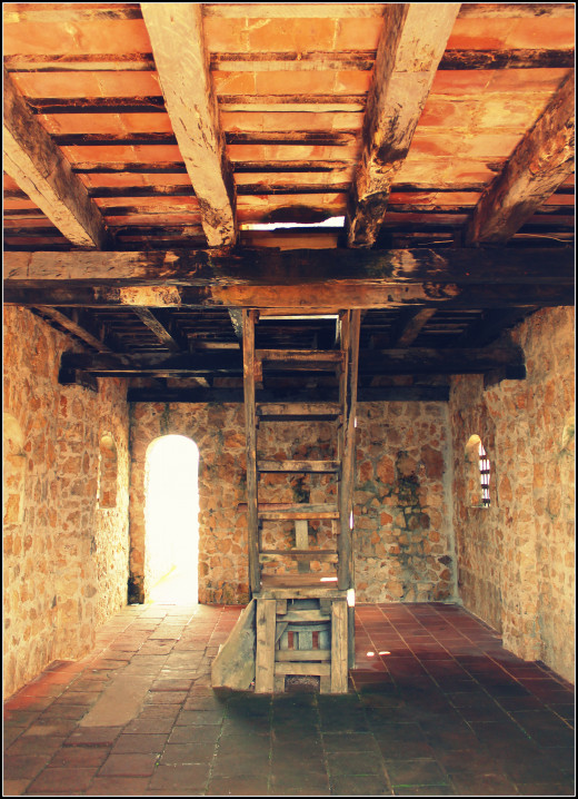 Roof access in the fort.