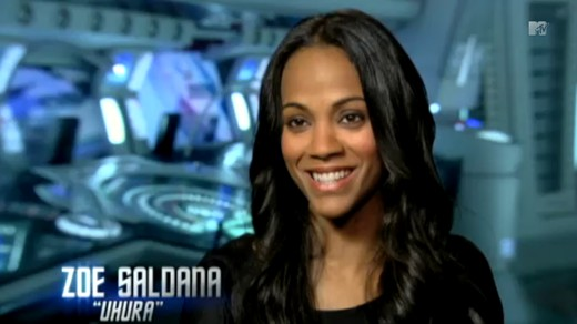 Zoe Saldana as Uhura MTV interview