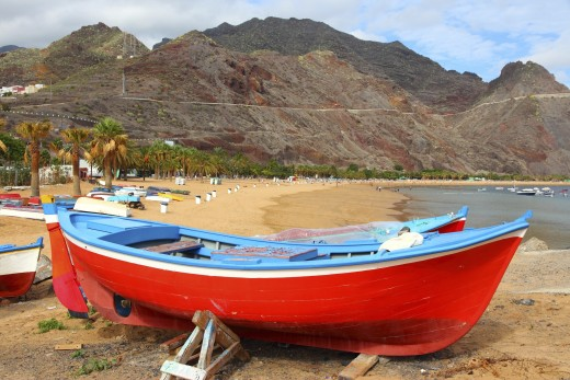 The colorful beaches of Tenerife.