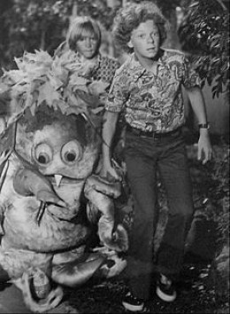Johnny Whitaker and friend. At least the cat's a better actor than Sigmund was.