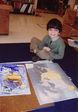 """The Montessori classroom consists of mixed grades, students """"move-up"""" when they are deemed """"ready."""""""