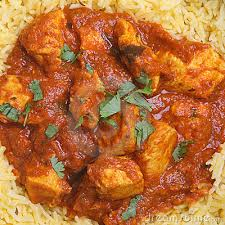 A Madras served with brown rice.