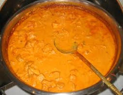 A very creamy Chicken Tikka Masala.