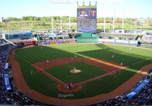 Kauffman Stadium; Kansas City, Missouri.  Home of the Kansas City Royals